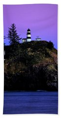 Hand Towel featuring the photograph Past Sunset At Cape Disappointment by Mary Jo Allen