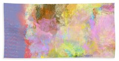 Pastel Flower Hand Towel by Jessica Wright