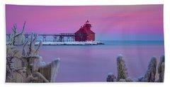 Pastel Lighthouse Bath Towel