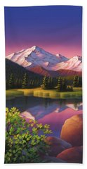 Pastel Mountain Hand Towel