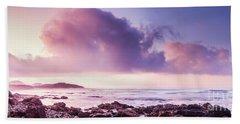 Pastel Purple Seashore Hand Towel