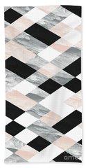 Pastel Scheme Geometry Bath Towel