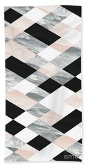 Pastel Scheme Geometry Bath Towel