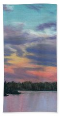 Pastel Sunset Bath Towel