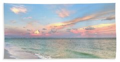 Pastel Sunset On Sanibel Island Bath Towel