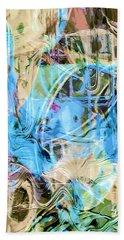 Pastel Tones Abstract Bath Towel