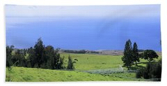 Pasture By The Ocean Hand Towel