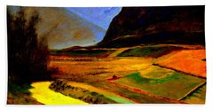 Pasture In The Mountains Bath Towel