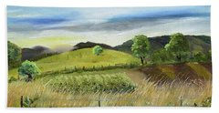Pasture Love At Chateau Meichtry - Ellijay Ga Hand Towel