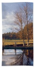 Pasture Pond Hand Towel by Laurie Stewart