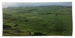 Pastures Inside The Rim On Terceira, Azores, Portugal Bath Towel