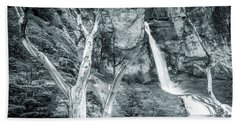 Patagonian Waterfall Hand Towel by Andrew Matwijec