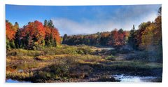 Hand Towel featuring the photograph Patches Of Fog At The Green Bridge by David Patterson