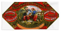 Hand Towel featuring the photograph Patent Medicine Label 1862 by Padre Art