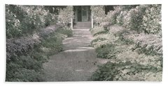 Path In Monet's Garden At Giverny Bath Towel