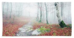 Path In The Forest Bath Towel