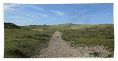Path In The Noordhollandse Duinreservaat Hand Towel