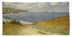 Path In The Wheat At Pourville Bath Towel