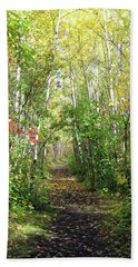 Path In The Woods 3 Bath Towel