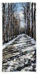 Path In Winter Bath Towel