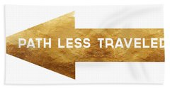 Path Less Traveled-  Art By Linda Woods Hand Towel