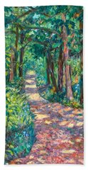 Bath Towel featuring the painting Path On Sharp Top by Kendall Kessler