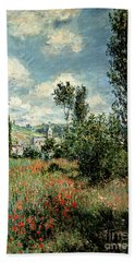 Path Through The Poppies Hand Towel