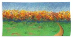 Path To Autumn Trees Hand Towel