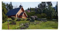 Rustic Church Surrounded By Trees In The Argentine Patagonia Hand Towel