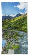 Bath Towel featuring the photograph Path To Snowdon by Ian Mitchell