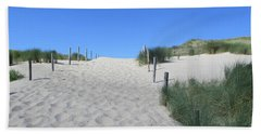 Path To The Beach In The Noordhollandse Duinreservaat Hand Towel