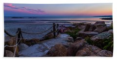 Path To The Beach Hand Towel by Tim Kirchoff