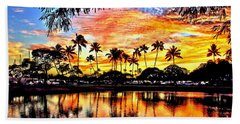 Hand Towel featuring the digital art Path To The Sea by DJ Florek