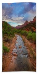 Hand Towel featuring the photograph Path To Zion by Darren White