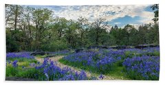 Pathway Through The Flowers Hand Towel