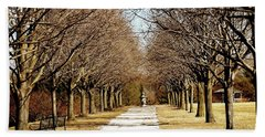 Pathway Through Trees Hand Towel