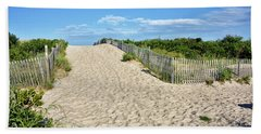 Hand Towel featuring the photograph Pathway To The Beach - Delaware by Brendan Reals