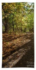 Hand Towel featuring the photograph Pathways In Fall by Iris Greenwell