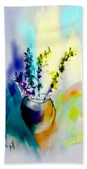 Patio Flowers Hand Towel