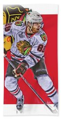 Patrick Kane Chicago Blackhawks Oil Art Series 2 Bath Towel