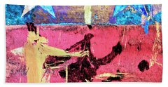 Hand Towel featuring the painting Patriot Act by Dominic Piperata