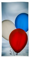 Hand Towel featuring the photograph Patriotic Balloons by Carolyn Marshall