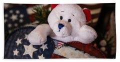Patriotic Teddy Bear Bath Towel