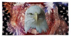 Patriotic Tribute Bath Towel