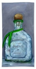 Patron Silver Tequila Bottle Man Cave  Bath Towel