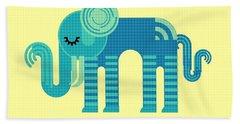 Pattern Elephant Hand Towel