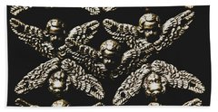 Pattern Of Antique Cupid Angels  Bath Towel