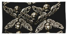 Pattern Of Antique Cupid Angels  Hand Towel