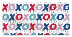 Pattern X O  Hand Towel