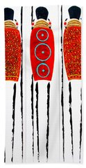 Patterned Masai Triptych Hand Towel